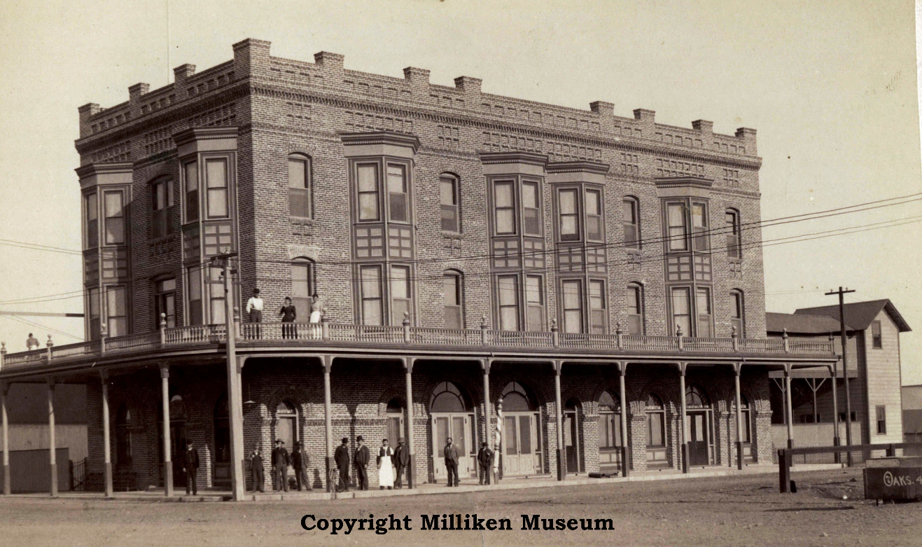 Los Banos Hotel 1889 90 Located At The Northwest Corner Of Sixth I Streets This Building Burned Down In 1919 Fire Present Day Location Bank