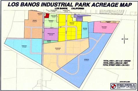 Los Banos Industrial Park Acreage Map