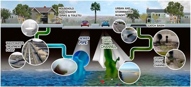 Storm Drain and Sanitary Sewer