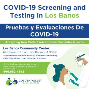 COVID-19 Screening and Testing in Los Banos